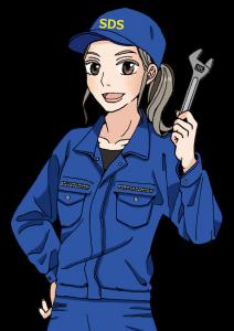 女性エンジニアのイラスト